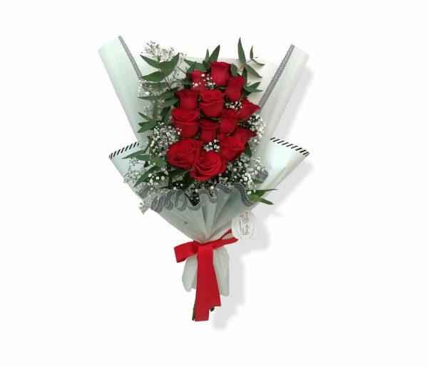 Ramo de rosas rojas llegale con flores
